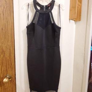 Material Girl Black Mini Dress, size M
